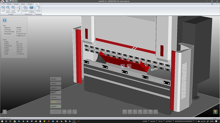 The software product for the complete automation of bending process