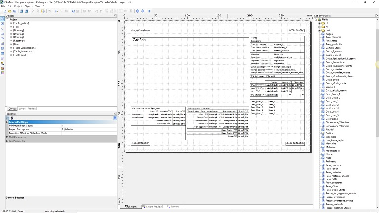 Integrated reports template manager