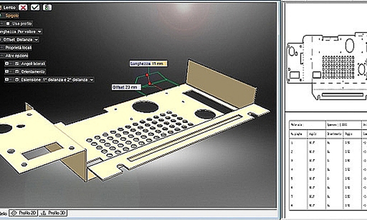 Automatic 2D table generation and bending table